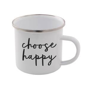 The Motivated Type Choose Happy Enamel Mug