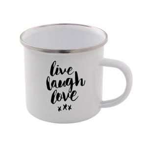 The Motivated Type Live Laugh Love Enamel Mug
