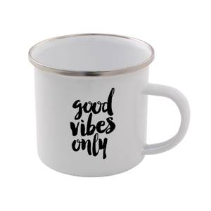 The Motivated Type Good Vibes Only Enamel Mug