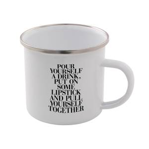The Motivated Type Pour Yourself A Drink Enamel Mug