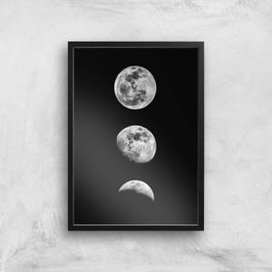 The Motivated Type Three Moon Phases Giclée Art Print