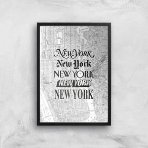 The Motivated Type New York New York Giclée Art Print