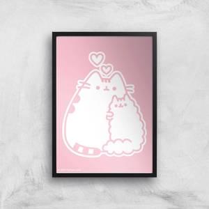 Pusheen Stormy I Love You Giclee Art Print