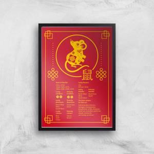 Chinese Zodiac Rat Traits Giclee Art Print