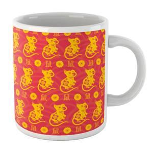 Year Of The Rat Gold Pattern Mug Mug