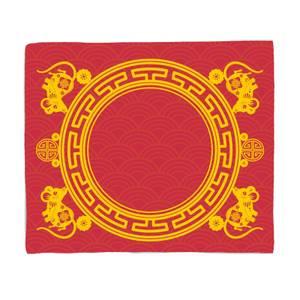 Chinese New Year Baby Backdrop Blanket Fleece Blanket