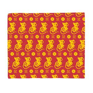 Year Of The Rat Pattern Fleece Blanket