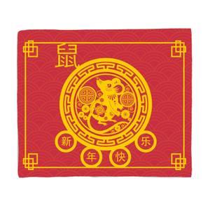 Decorative Chinese New Year Blanket Fleece Blanket