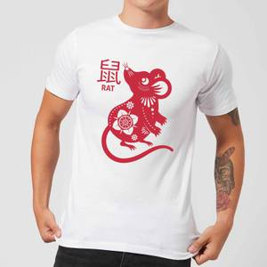 Year Of The Rat Men's T-Shirt - White