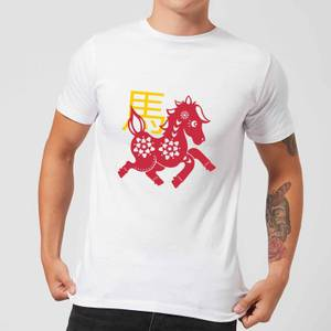 Chinese Zodiac Horse Men's T-Shirt - White
