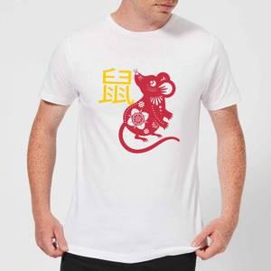 Chinese Zodiac Rat Men's T-Shirt - White
