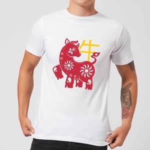 Chinese Zodiac Ox Men's T-Shirt - White
