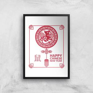Happy Chinese New Year Red Giclee Art Print