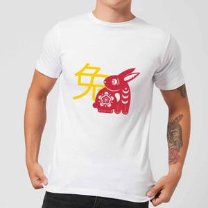 Chinese Zodiac Rabbit Men's T-Shirt - White
