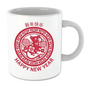 Year Of The Rat Decorative Circle Red Mug
