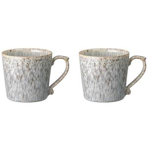 Denby Halo Speckle Large Mugs - 390ml (Set of 2)
