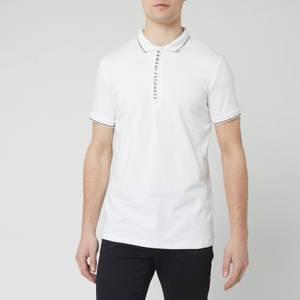 Armani Exchange Men's Placket Detail Polo Shirt - White