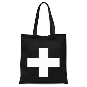 The Motivated Type Swiss Cross Tote Bag - Black