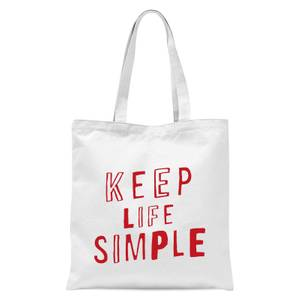 The Motivated Type Keep Life Simple Tote Bag - White