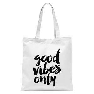 The Motivated Type Good Vibes Only Tote Bag - White