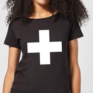 The Motivated Type Swiss Cross Women's T-Shirt - Black