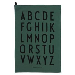 Design Letters Classic Tea Towel - Dark Green (2 Pack)