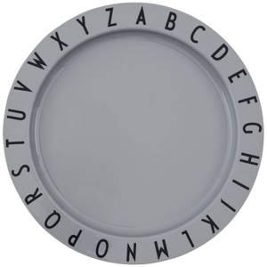 Design Letters Eat & Learn Tritan Deep Plate - Grey