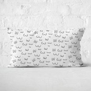 Boob Print Rectangular Cushion