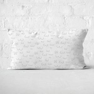 Muted Boob Print Rectangular Cushion