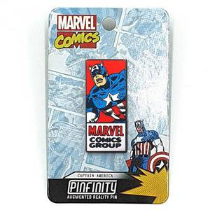 Marvel Captain America Comic Augmented Reality Pin Badge