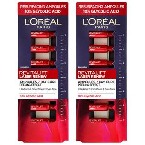 L'Oréal Paris Revitalift Laser Ampoules 10% Glycolic Acid Peel Duo Pack - Exclusive
