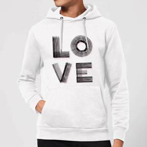 Hatched Love Hoodie - White