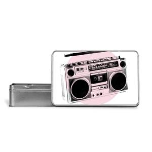 Boombox Times Metal Storage Tin
