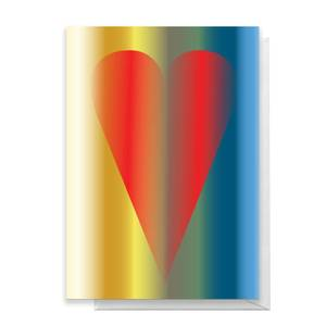 Contemporary Love Heart Greetings Card