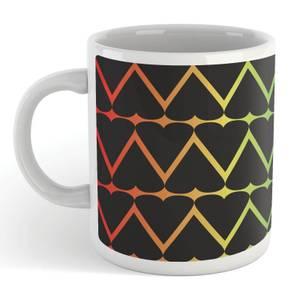 Black Hearts On Rainbow Mug
