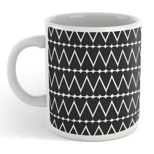 Black Hearts With White Background Mug