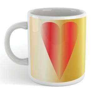 Contemporary Heart Art Mug