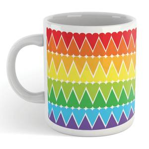 Small Rainbow Heart Mug