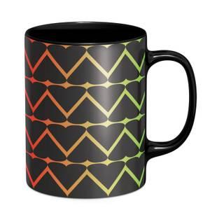 Hearts On Rainbow Mug - Black