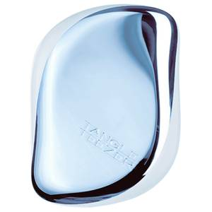 Tangle Teezer Compact Styler Detangling Hairbrush Sky Blue Delight Chrome