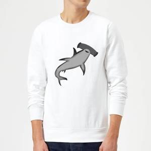 Hammer Head Shark Sweatshirt - White