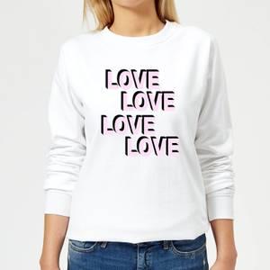 Love Love Love Love Women's Sweatshirt - White