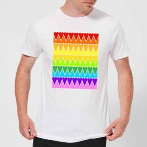 Rainbow Heart Upside Down Men's T-Shirt - White