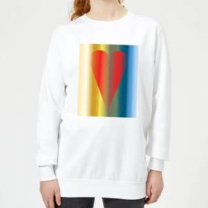 Art Heart Women's Sweatshirt - White