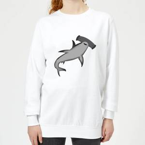 Hammer Head Shark Women's Sweatshirt - White