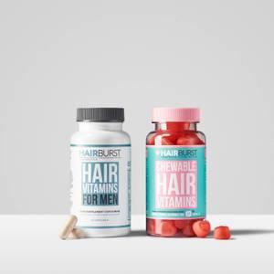 Hairburst His & Hers Hair Vitamin Bundle (Worth £49.98)