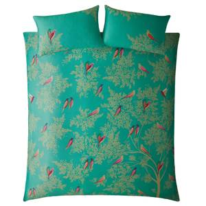 Sara Miller Green Birds Duvet Set - Teal