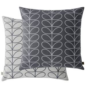 Orla Kiely Small Linear Stem Cushion - Grey