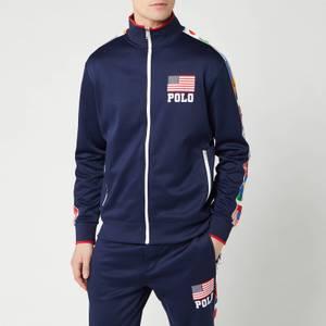 Polo Ralph Lauren Men's Zip Up Flag Track Jacket - Newport Navy