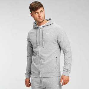 MP Men's Form Zip Up Hoodie - Grey Marl